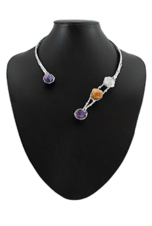 Danya in Amethyst, Citrine and Quartz Crystal