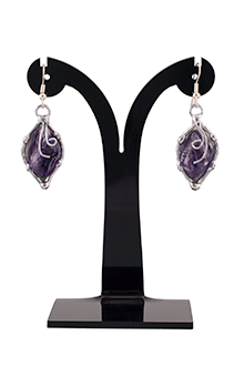 Hanna Drop Earrings in Amethyst