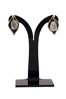 Sandra Earrings in Brass