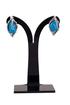 Sandra Earrings in Turquoise Howlite